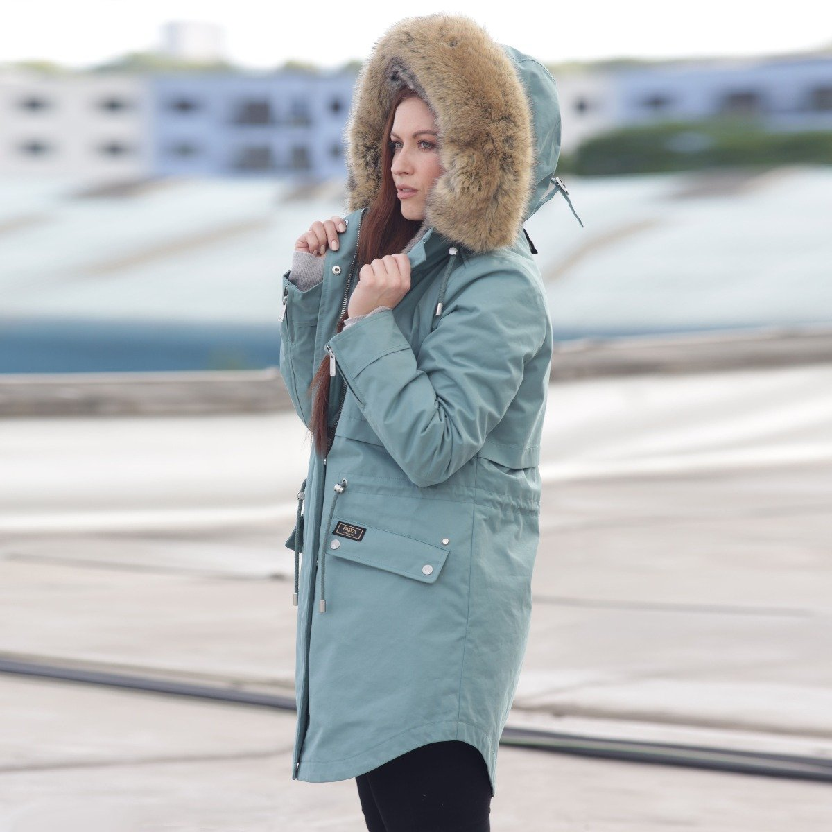 Winter parka for women teal