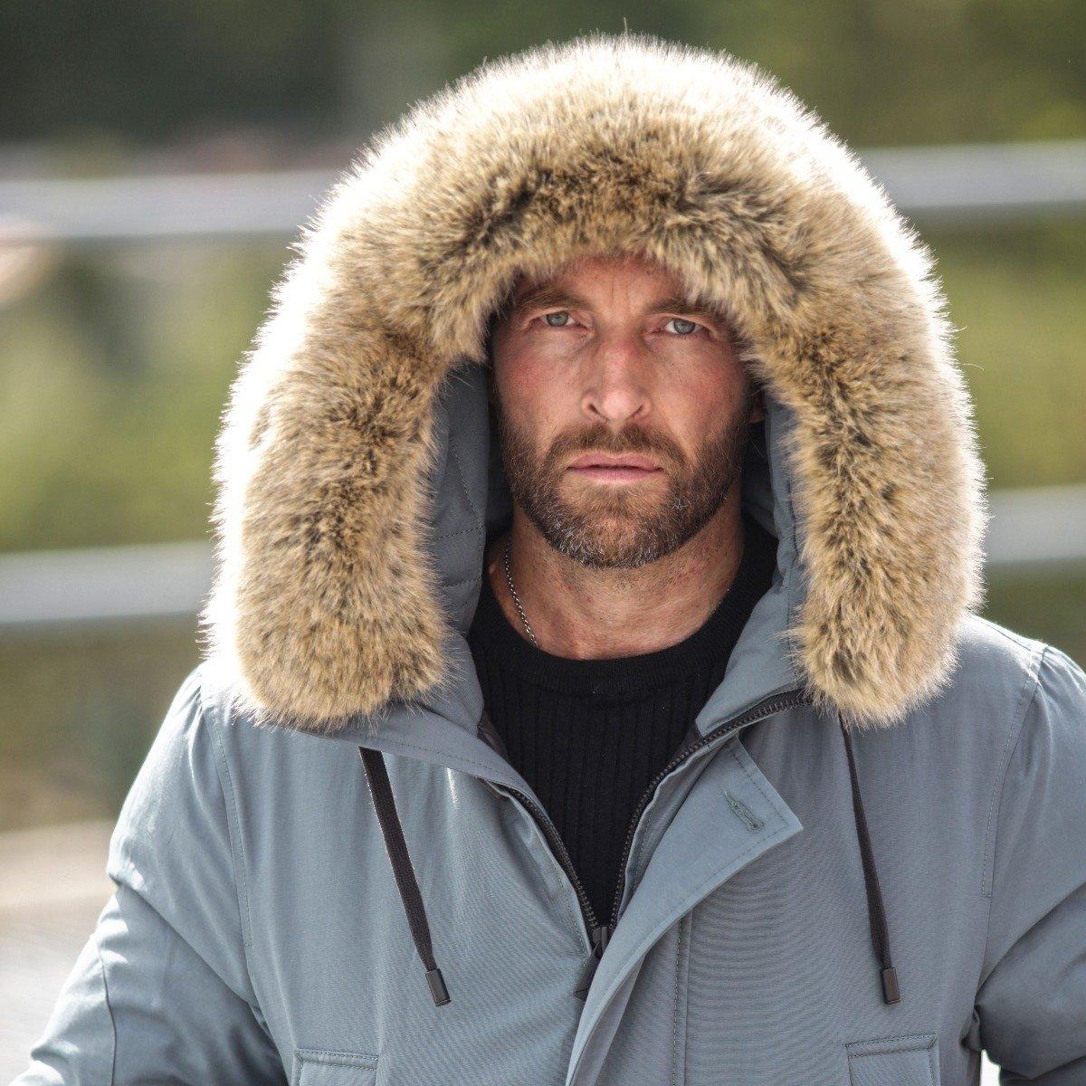 Winter parka faux fur