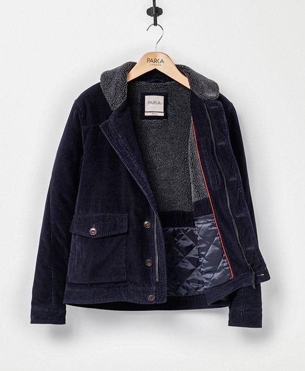 Airforce jacket parka fur true black