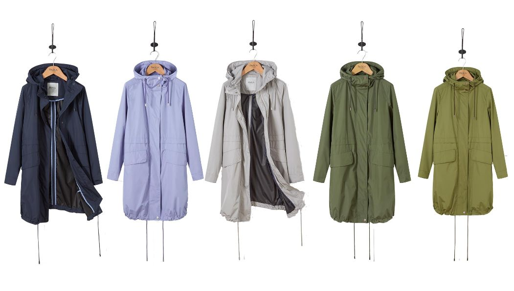 SIENNA lightweight water resistant parka in Navy, Bluebell, Pebble, Rifle and Moss Green