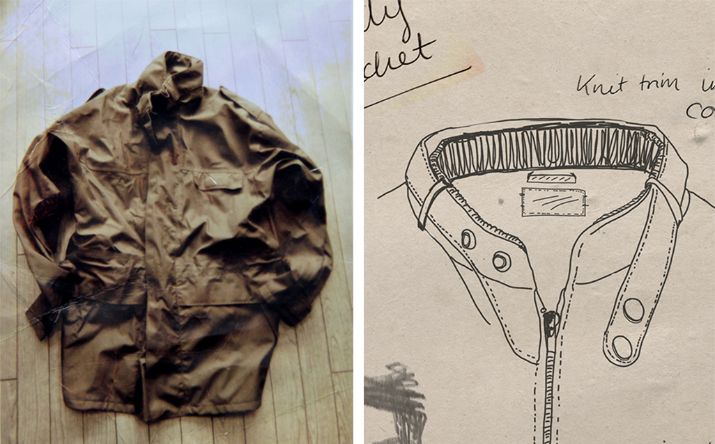 Alfie Lever's original parka design from 1953 and a the original members jacket from 1981