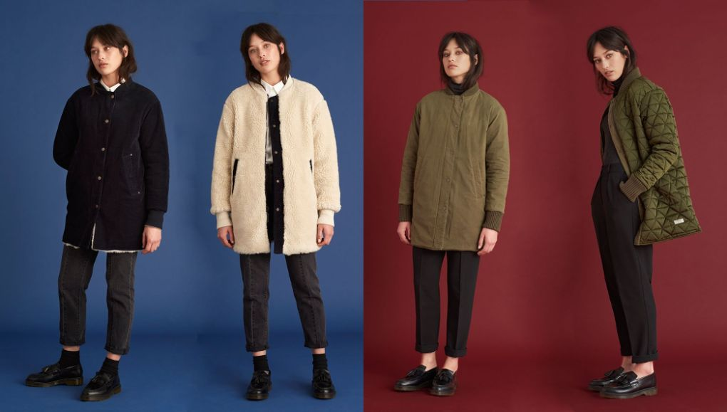 Versatile style with our reversible long bombers Ezra and Frances