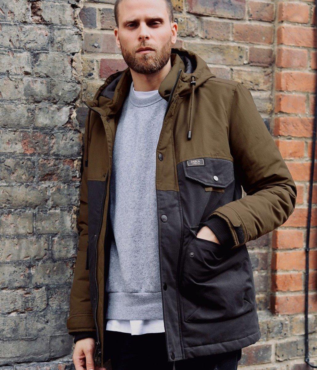 Double block parka jacket